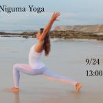 9/24(sun) Lady  Niguma Yoga   at  YOGA  WING  OKINAWA